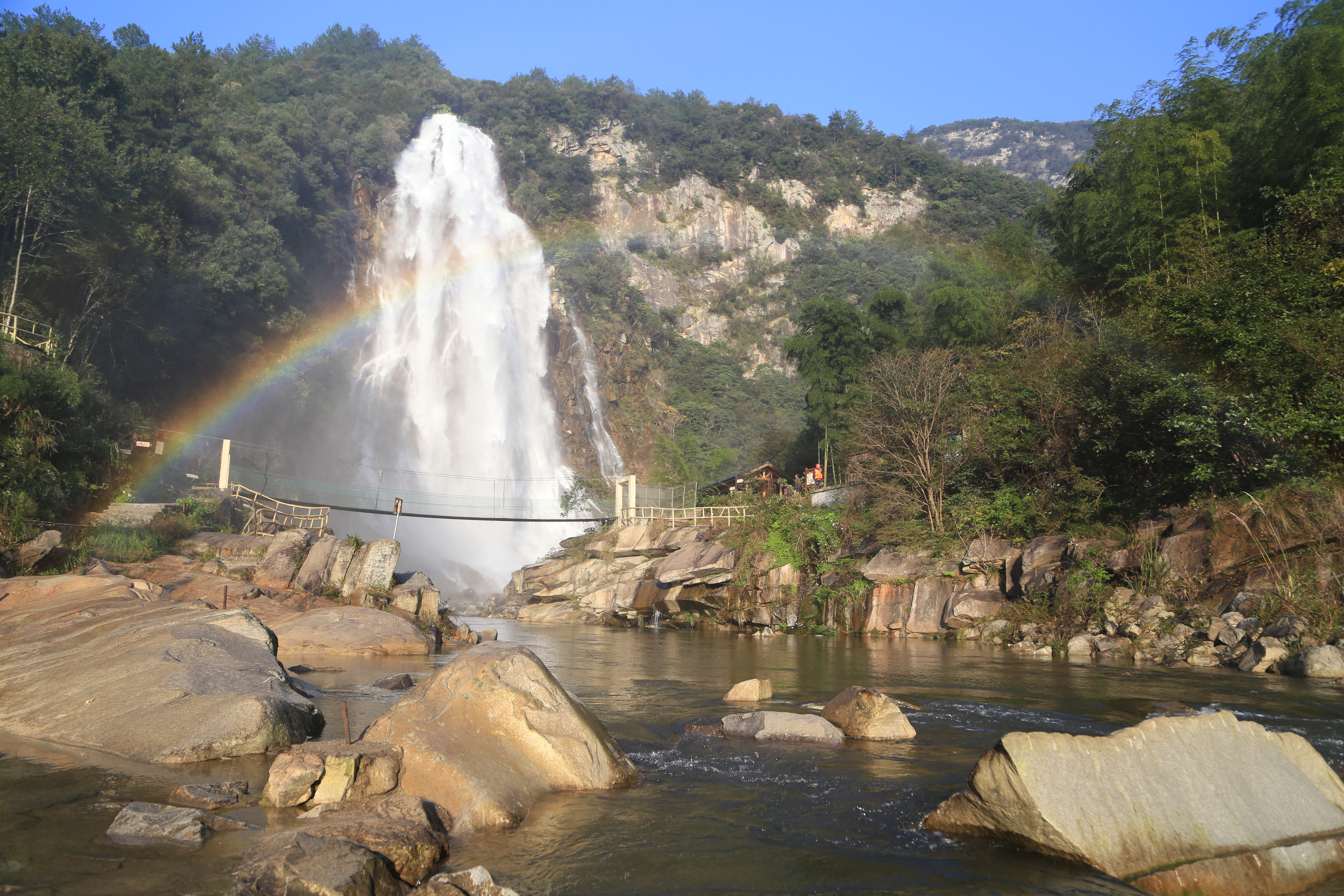 Dabie Mountain Rainbow Waterfall