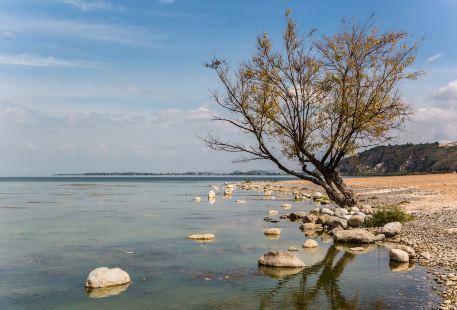 쿤밍 뎬츠 호수 남부 모래사장 테마파크