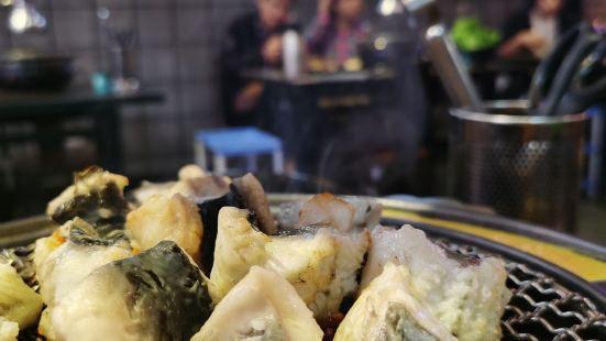 海雲台古早市場烤鰻魚店