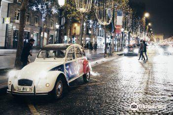 敞篷車真實巴黎遊