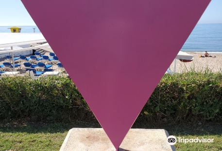 Pink Triangle Monument Against Homophobia