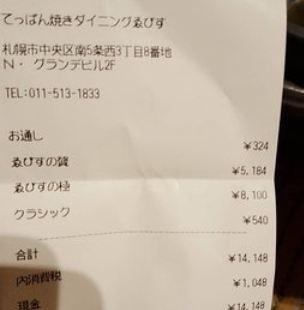Teppanyaki Dining Ebisu