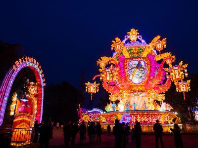 Overseas Chinese town · The 26th Zigong International Dinosaur Lantern Festival