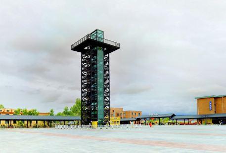 茶卡鹽湖觀光塔