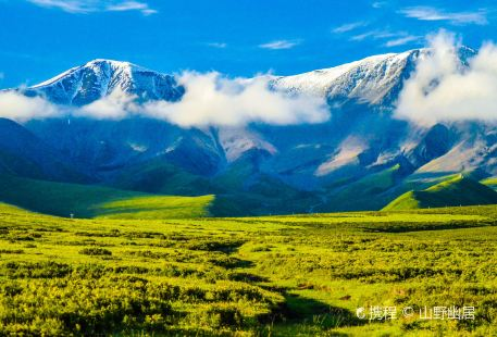 The Qilian Mountain Scenic Area