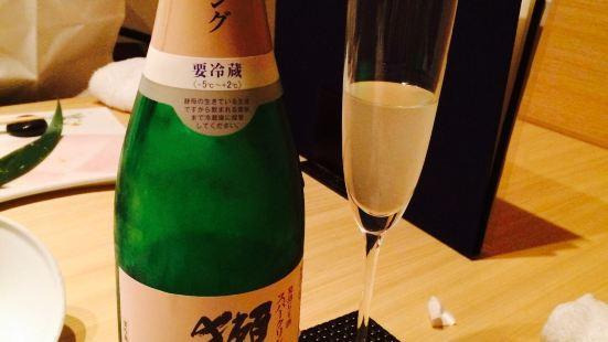 Washoku Koshitsu wine to Sushi Ibuki Issan Ginza