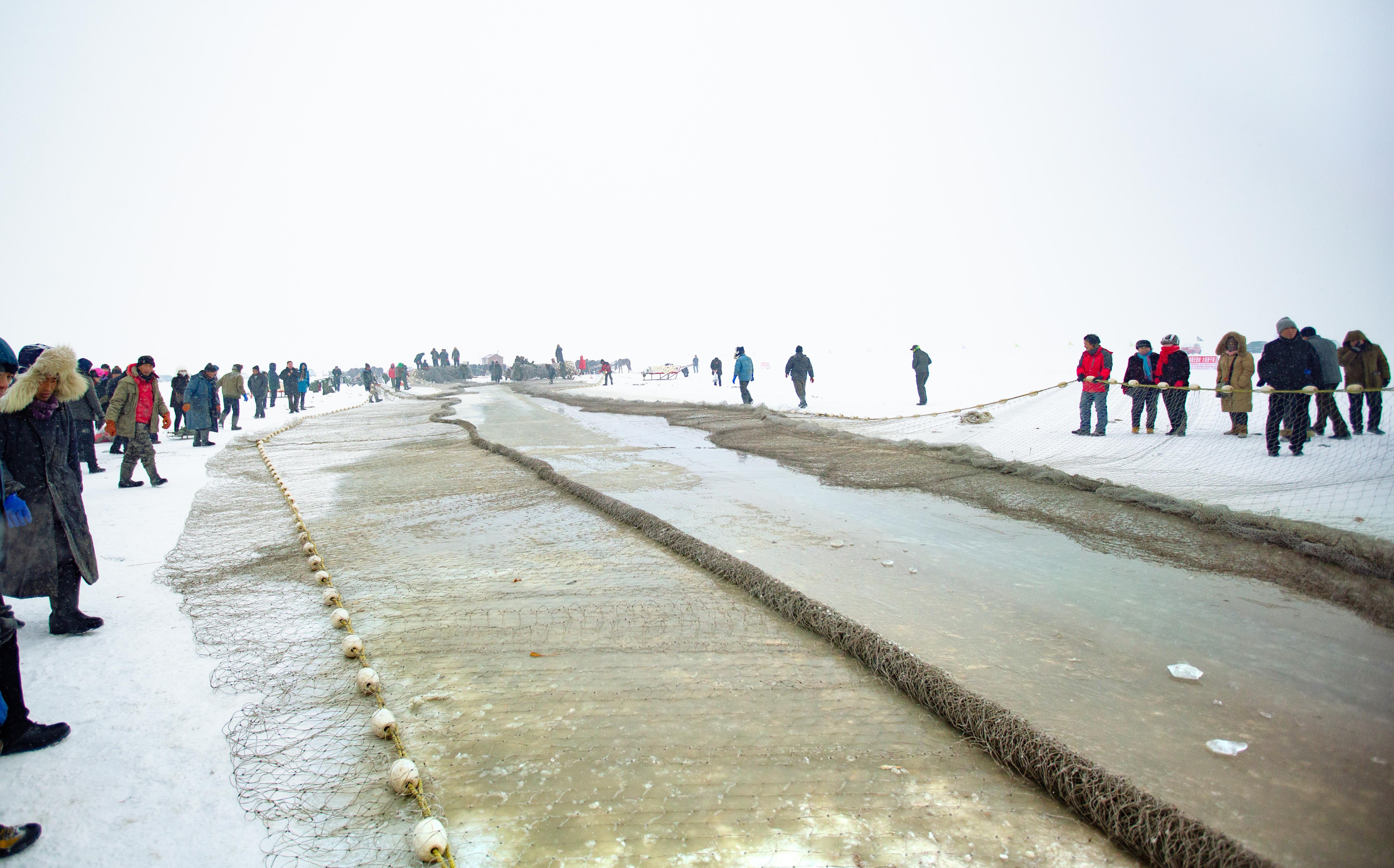 Ice Fishing on Chagan Lake