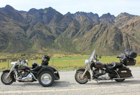 Harley Davidson Chauffeured Passenger Day Tour to Waitomo Glow Worm Caves