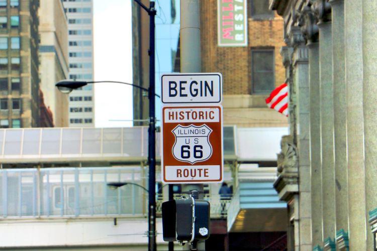 Historic Rt 66 Begin Sign