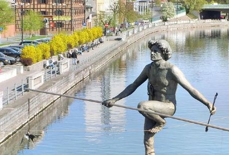 Man crossing the river