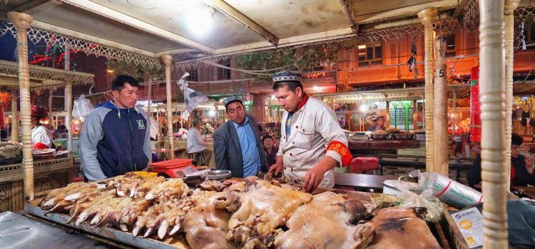 喀什老城夜市美食廣場3
