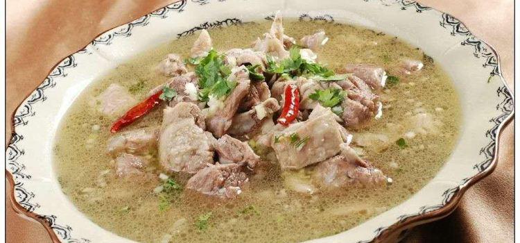 陝北名吃風乾羊肉剁蕎面1