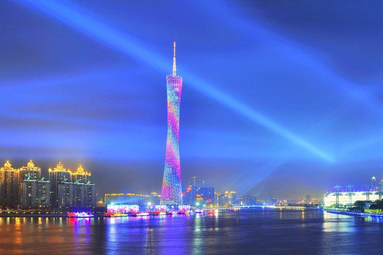 珠江夜遊廣州塔·中大碼頭
