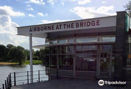 Airborne at the bridge