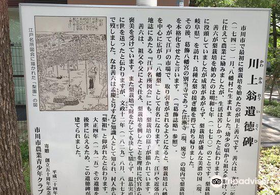 川上翁遺徳碑4