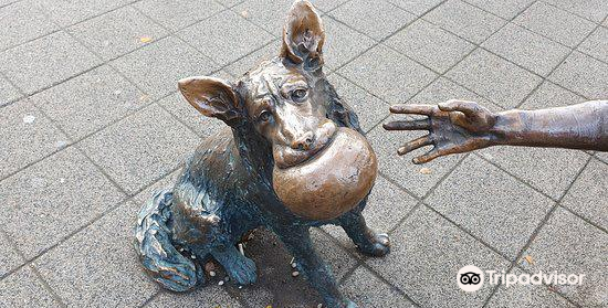 Girl With Her Dog Statue4